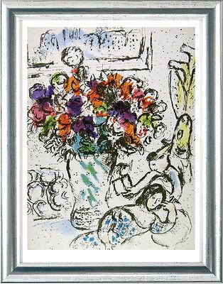 Marc Chagall (1887-1985), Original-Litho, Les Anémones, 1974
