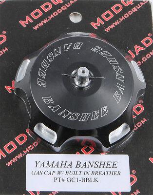 MODQUAD ANODIZED BILLET GAS CAP BLACK LOGO BLASTER BANSHEE GC1-BBLK