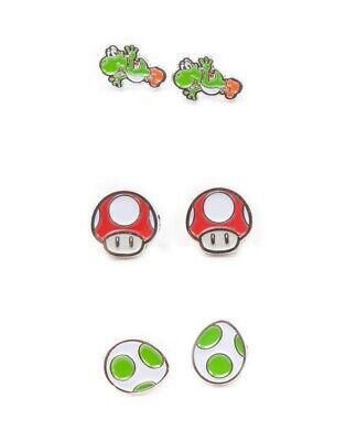 NINTENDO SUPER MARIO YOSHI SET Earrings Ohrringe Ohrschmuck SNES NES GB Cosplay