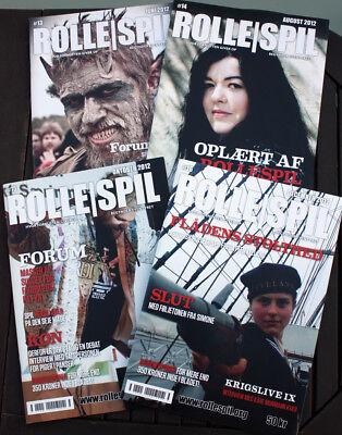 4 x ROLLESPIL #13 #14 #15 #16 - Hvor fornuften giver op - larp magazines - NEW