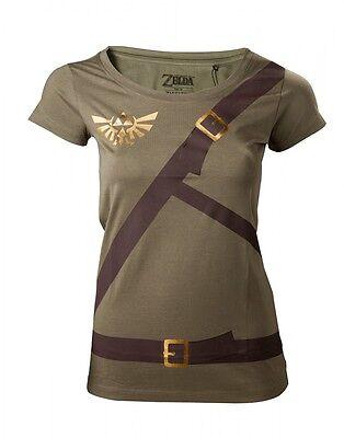 T-Shirt The Legend von Zelda Link Gürtel Kostüm Damenpullover offiziel Bioworld