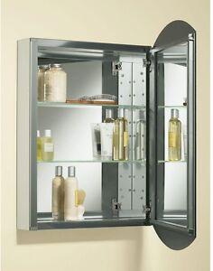 kohler recessed medicine cabinet 20 x31 mirror shelves aluminum ba