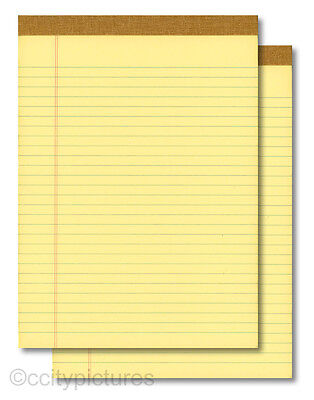 2 8.5x11 100 Sheet Yellow Writing Paper Note Pads - New