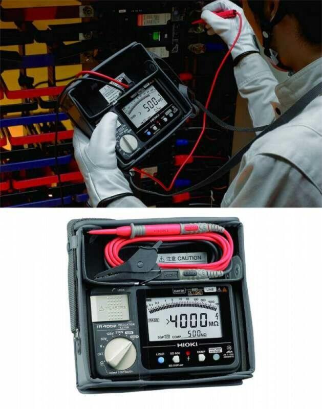 Hioki IR4052-10 Digital Insulation Resistance Tester 50-1000 DCV Fast Ship Japan