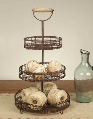 Three Tier Serving Stand (Wire Stand For Display & Serving With Handle - 3 Three)