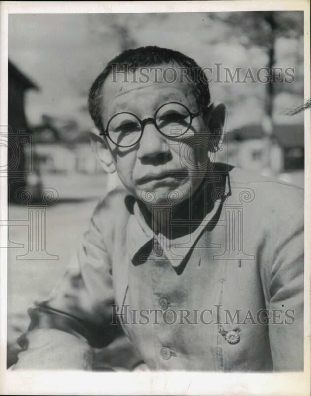 1945 Press Photo Colonel Kingoro Hashimoto, Held at Omori Prison Camp, Japan