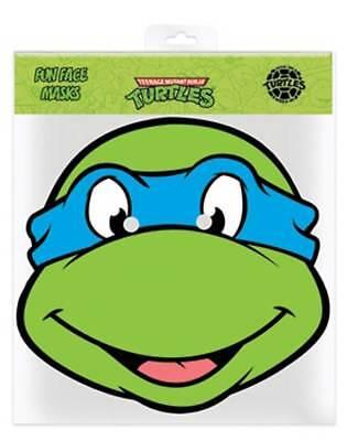 TMNT Leonardo Ninja Turtles Papp Maske Glanzkarton mit Augenlöchern
