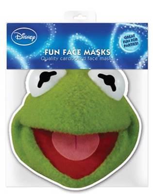 Muppets Kermit - Papp Maske - hochwertiger Glanzkarton mit Augenlöchern