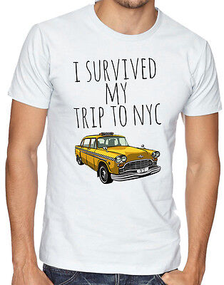 I Survived My Trip To NYC New York Yellow Taxi USA Men Women Unisex T-shirt 691