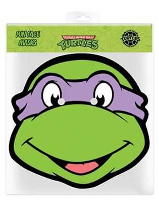 TMNT Donatello - Ninja Turtles Papp Maske - Glanzkarton mit (Tmnt Donatello Maske)