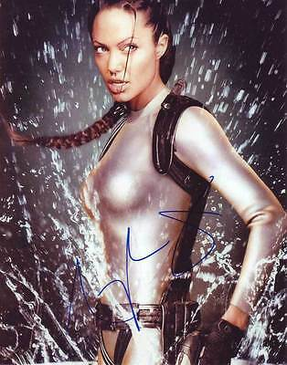 Angelina Jolie In Person Authentic Autographed Photo Coa Tomb Raider Sha  82346