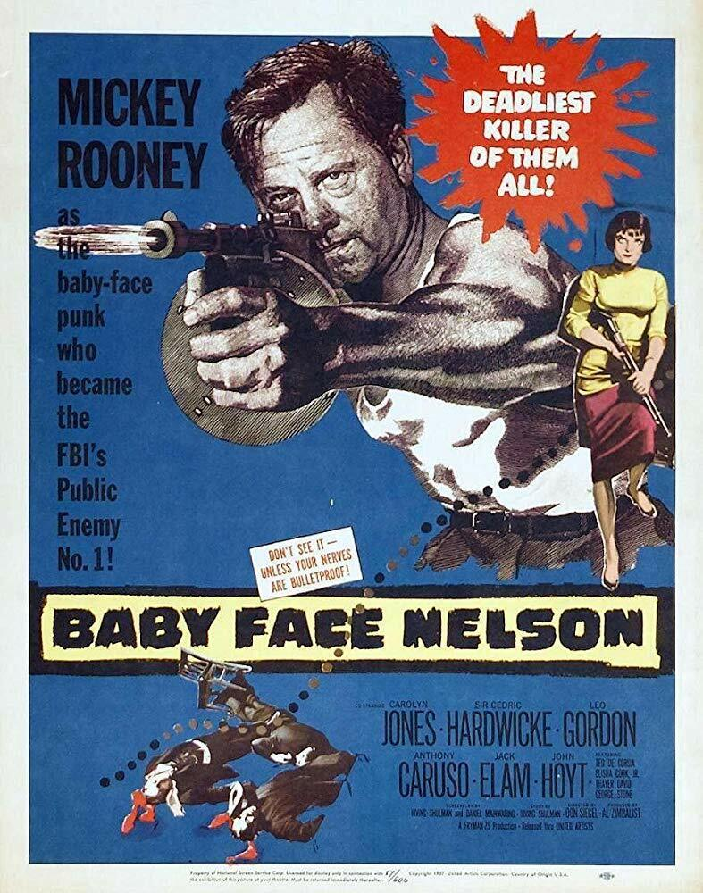 BABY FACE NELSON 1957  VERY  RARE CRIME FILM ON DVD