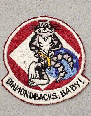 USN Navy patch 719: Fighter Squadron 102 (VF-102) F-14 Tomcat, Philippine made