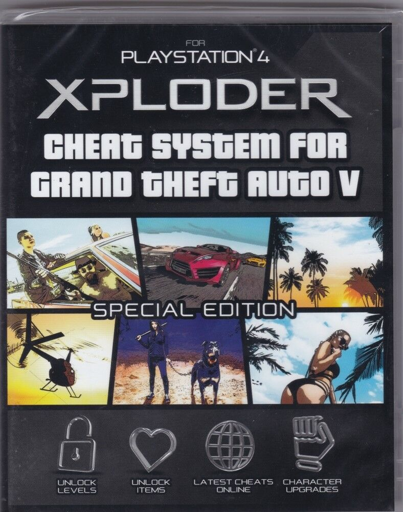 Details about Xploder Cheat System Grand Theft Auto 5 V Special Edition  PlayStation 4 Mods PS4