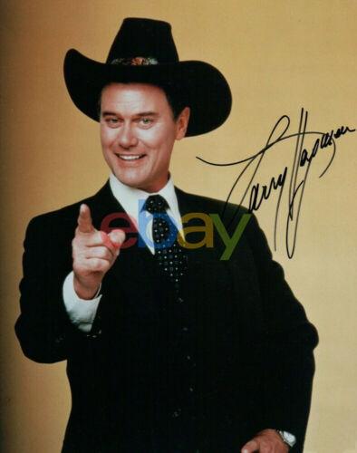Larry Hagman Signed Autographed 8x10 Photo Dallas reprint