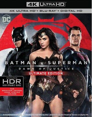 Batman vs Superman Dawn of Justice Digital Ultimate (4K Ultra HD/Blu-ray) NEW - Dawn Of Justice Batman