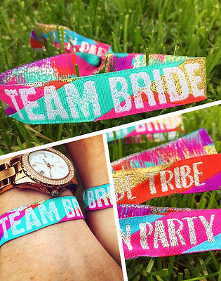 Team Bride (Multicoloured) Hen Do Wristbands - Bride Tribe - Hen Party Favours ](Team Bride Wristbands)