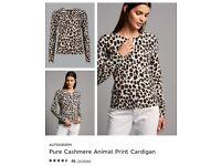 M&S cashmere cardigan camel mix size 12 RRP £109