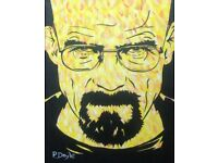 Breaking Bad's Walter White original acrylic painting.