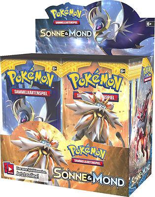 """*NEU* 1 Booster Display Box Pokemon *Sonne & Mond* deutsch (""""NEU & OVP"""")"""