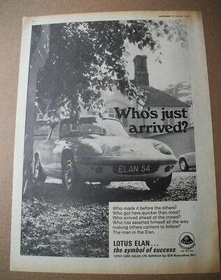 Lotus Lotus Elan Post Card Brochure Sales Literature Vehicle Parts & Accessories