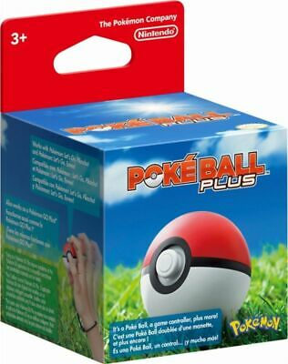 Poke Ball Plus for Pokemon Let's Go * Pikachu & Eevee Switch Game Nintendo *NEW