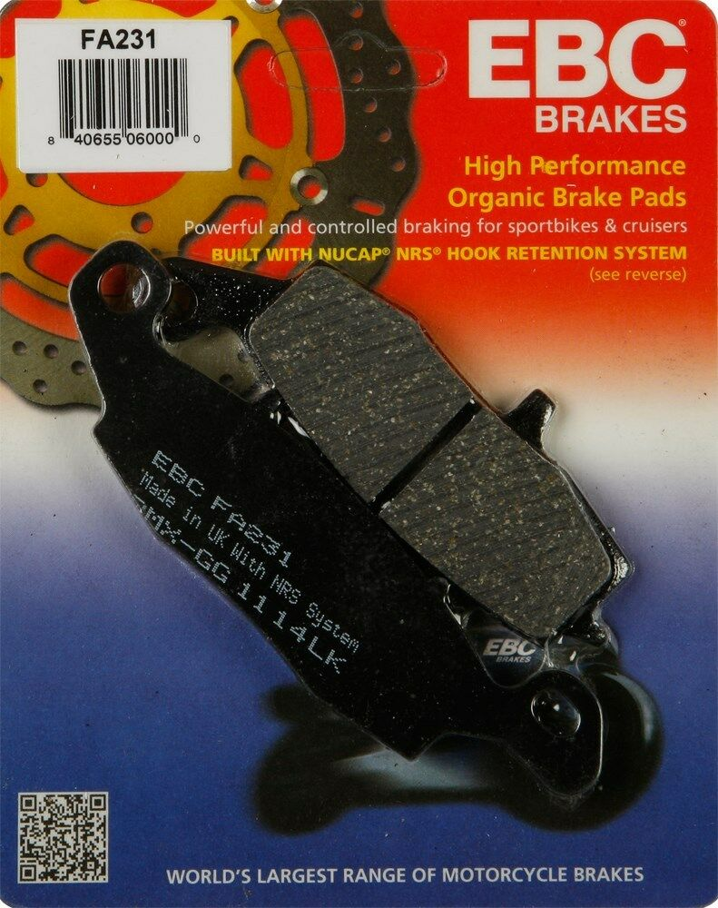 Kawasaki VN1500 FA229//FA231 1998 to 2003 EBC Organic FRONT Brake Pads 2 Sets