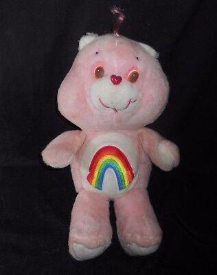 45.7cm Groß Vintage 1984 Pink Care Bears Cheer Regenbogen Plüschtier Spielzeug