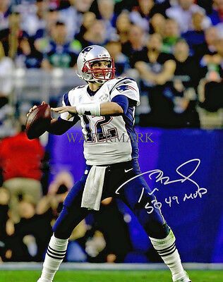 TOM BRADY SIGNED SUPER BOWL MVP NEW ENGLAND PATRIOTS 8x10 REPRINT PHOTO RP