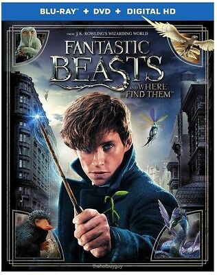Fantastic Beasts And Where To Find Them  Blu Ray Dvd  2017  2 Disc Set  Digital