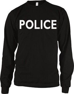 Police Halloween Costume Security Humor Funny Joke Meme Long Sleeve Thermal](Funny Police Halloween Costumes)