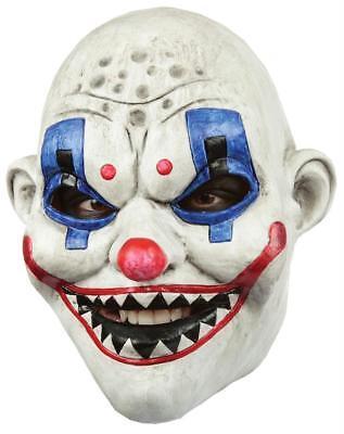 Erwachsene Unheimlich Gemein Clown Gang Raf Latex Maske mit Scharf Zähne Kostüm