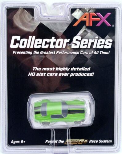 Tomy AFX Mega G+ Chevy Camaro RS 350 Green HO Scale Slot Car #22003 NIB Mega-G