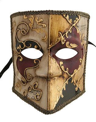 Mask from Venice Bauta Asso Musica Authentic Carnival Venetian 379 V69B V69B