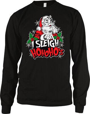 I Sleigh Ho Ho Hos Santa Claus Pimp Slay Christmas Xmas Sex Player Men's Thermal Pimp Hose