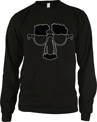 Funny Face Glasses with Nose and Mustache - Disguise Funny Long Sleeve Thermal (Funny Glasses And Nose)