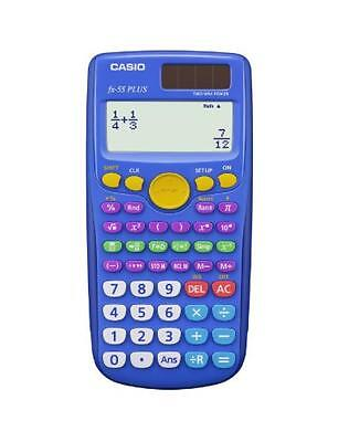 Casio Fx 55 Plus Elementary Middle School Fraction Calculator  New  Free Shippin