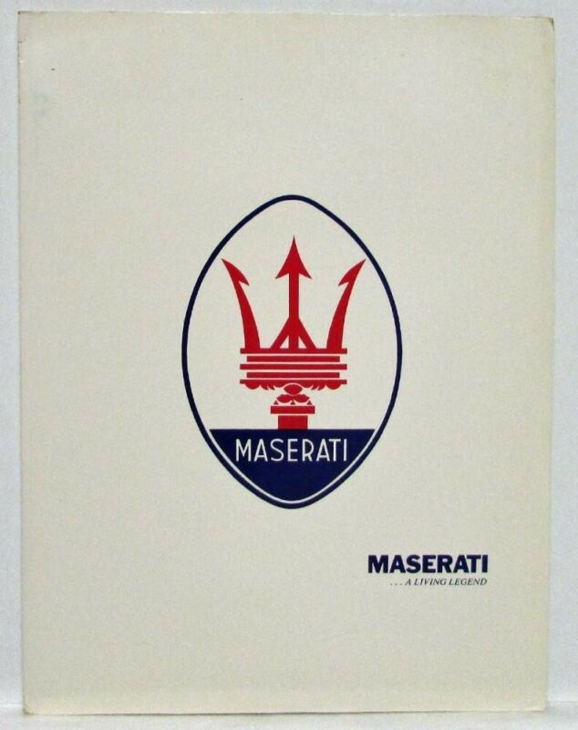 1986 Maserati Press Kit - Biturbo Quattroporte