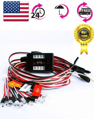 US RC 12LED Light Kit Brake+Headlight+Signal 2.4G PPM FM For HSP 1:10 Model Car