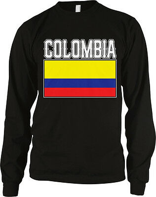 Bold Colombia Flag   Colombian Pride Republic Of Colombia Long Sleeve Thermal