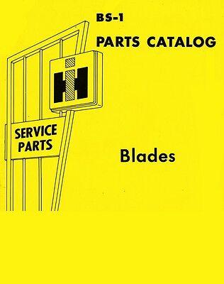 International Farmall L-54 54a 2cu A-60 100 1 200 300 420 430 Blade Parts Manual
