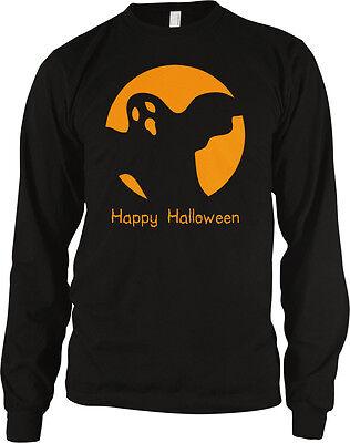 Happy Halloween Scary Ghost Goblin Ghoul Horror Spooky Long Sleeve Thermal