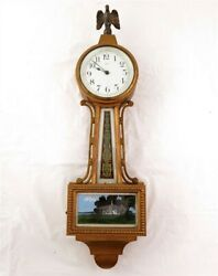 Antique New Haven Willis Banjo Clock