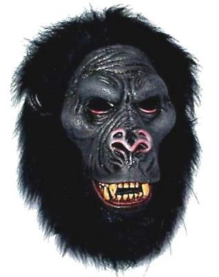 NEW GORILLA MONKEY MASK wild animal with TEETH ape head PL55 dress up costume](Gorilla Costume Mask)