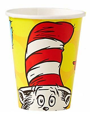 Dr. Seuss 9 oz Paper Beverage Cups 8 Per Package Birthday Party Supplies New](Dr Seuss Birthday Supplies)