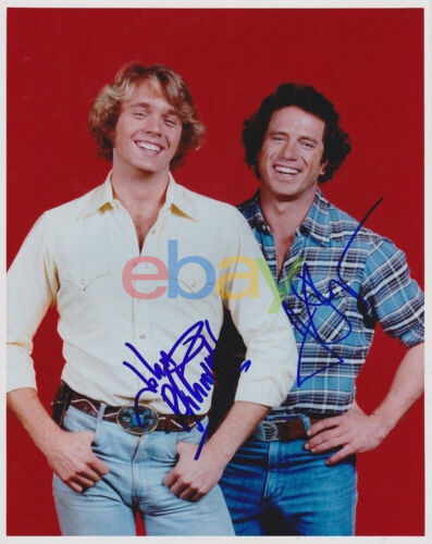 Tom Wopat + John Schneider Signed 8x10 Photo Dukes of Hazzard reprint