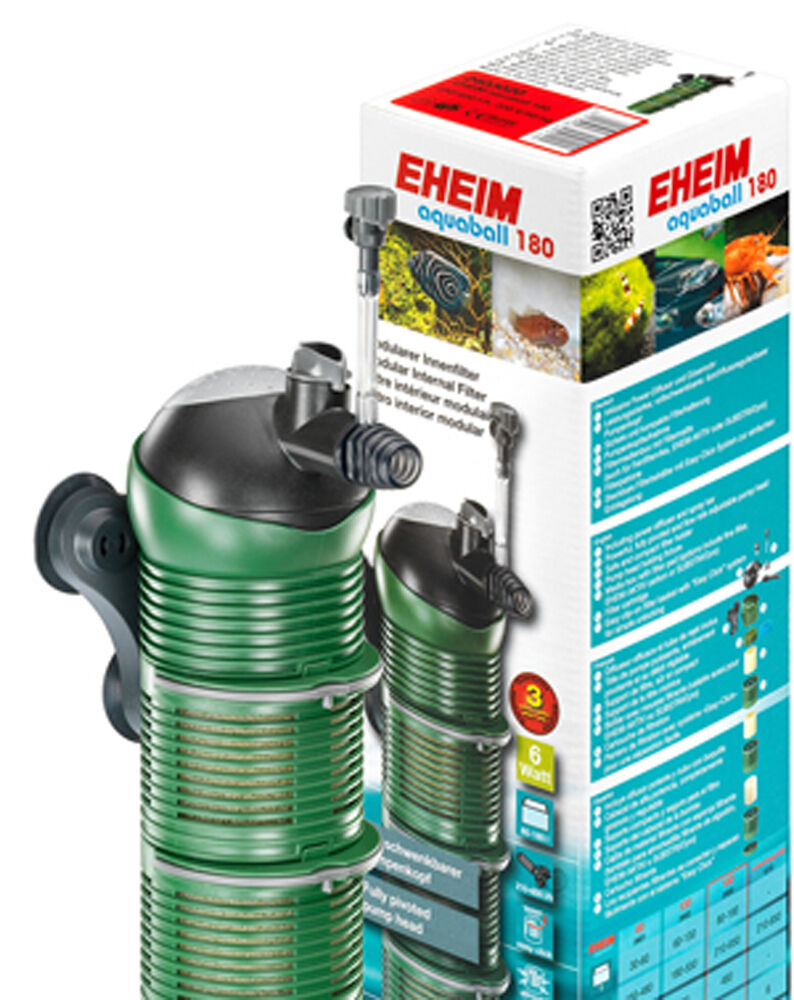 EHEIM AQUABALL INTERNAL AQUARIUM FILTER SIZES 60, 130, 180. & REPLACEMENT MEDIA.