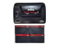 SEGA Master System 2 console with 2 controllers 5 games