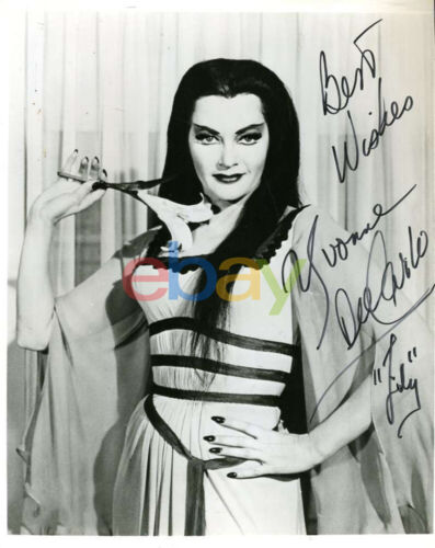 YVONNE DECARLO Munsters Autograph 8x10 Photo Signed reprint