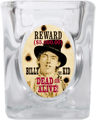 Western Wanted Poster Shot Glass 2 oz